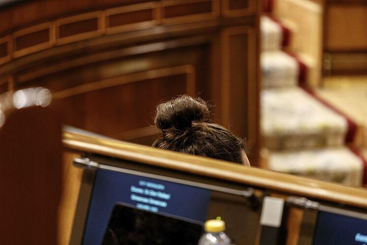 Detalle del vicepresidente de Derechos Sociales, Pablo Iglesias, este...