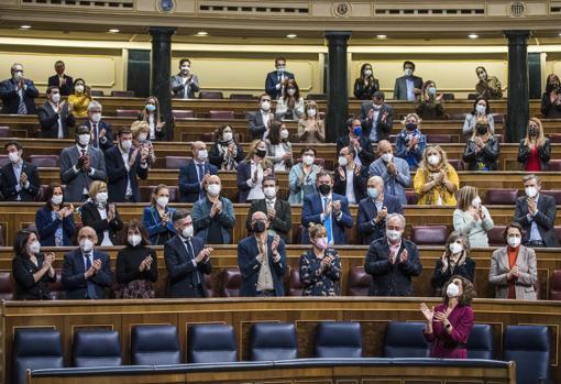 Imagen de la aprobación de la Ley de la Eutanasia en el Congreso